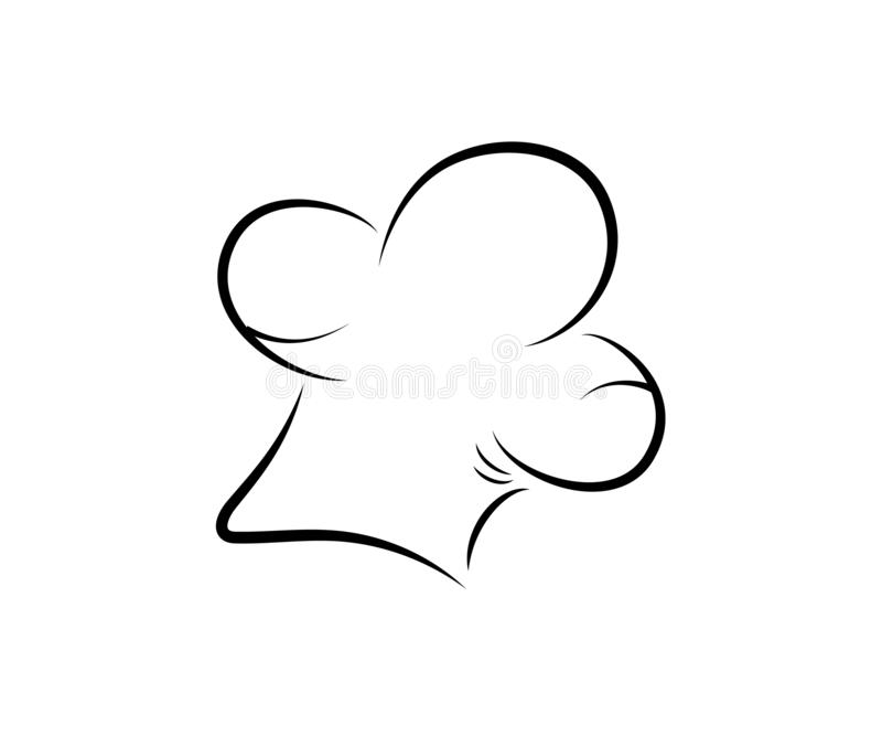 Значок шляпы повара шеф-повара вектор Дизайн плана изолировано иллюстрация вектора