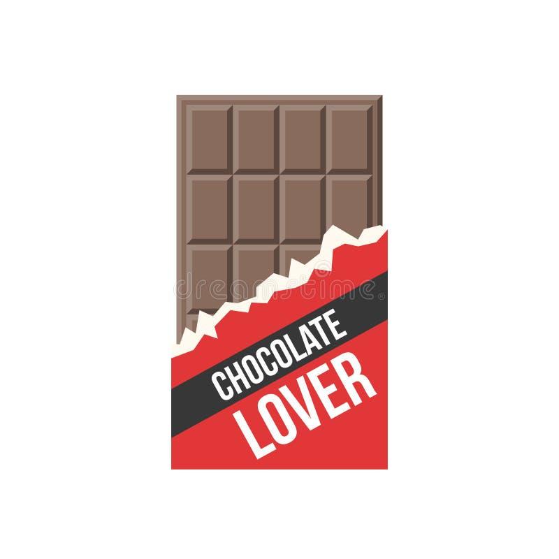 Значок шоколадного батончика и любовник шоколада значка бесплатная иллюстрация