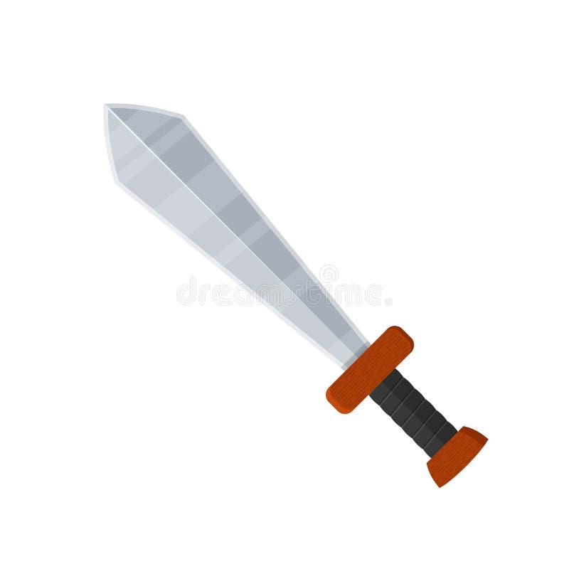 Значок шпаги в плоском стиле изолированный на белой предпосылке armourer бесплатная иллюстрация
