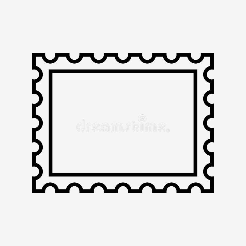 Значок штемпеля почтового сбора иллюстрация вектора