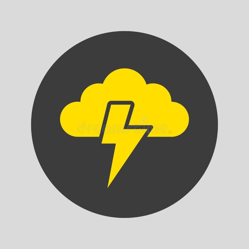 Значок шторма на серой предпосылке иллюстрация штока