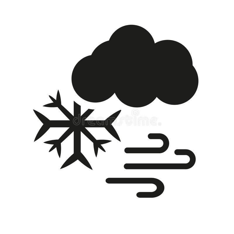 Значок штормов снега Ультрамодная концепция логотипа штормов снега на белом backg иллюстрация вектора