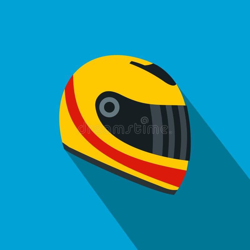 Значок шлема гонок плоский иллюстрация штока