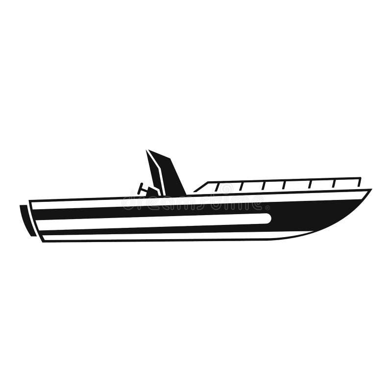 Значок шлюпки скорости мотора, простой стиль иллюстрация штока
