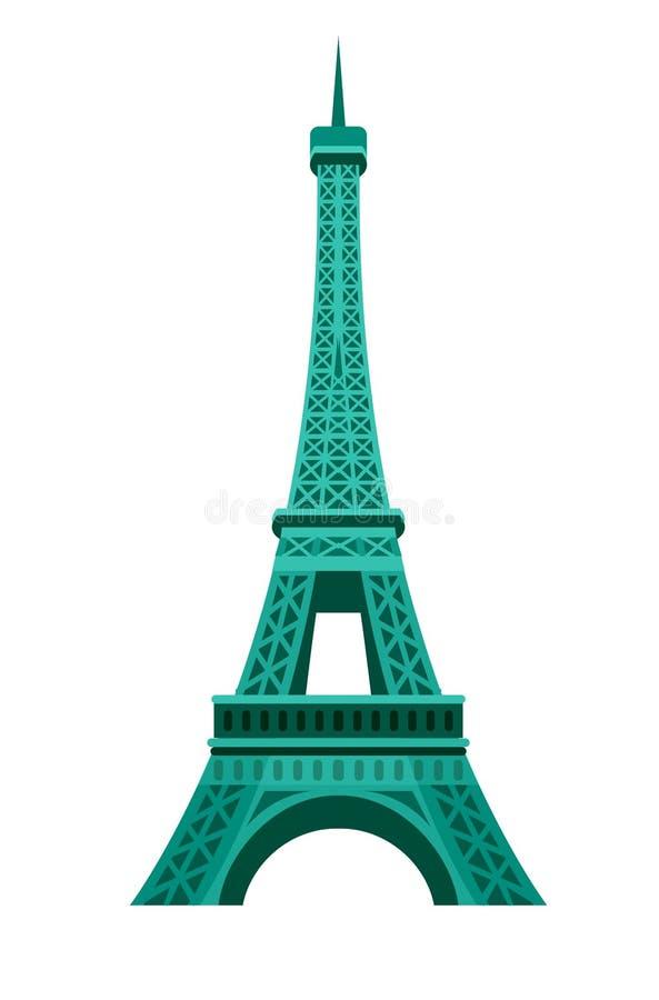Значок Эйфелева башни Парижа иллюстрация вектора