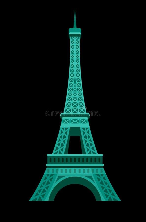 Значок Эйфелева башни Парижа иллюстрация штока