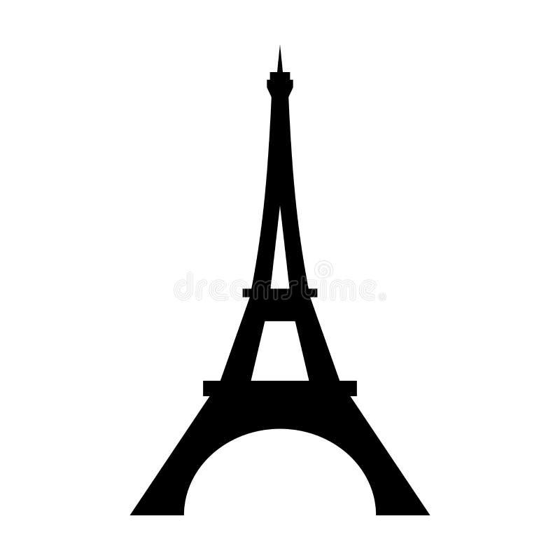 Значок Эйфелева башни плоский бесплатная иллюстрация