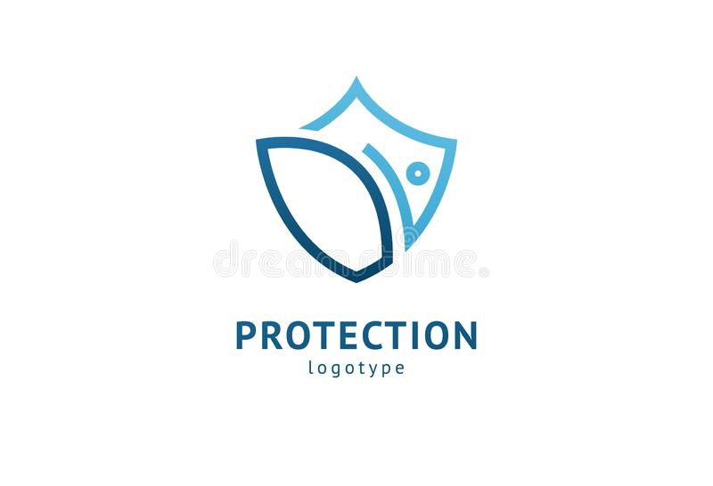 Значок экрана Шаблон логотипа агентства по безопасности дела конспекта иллюстрации стиля вектора плоский Концепция логотипа антив иллюстрация штока