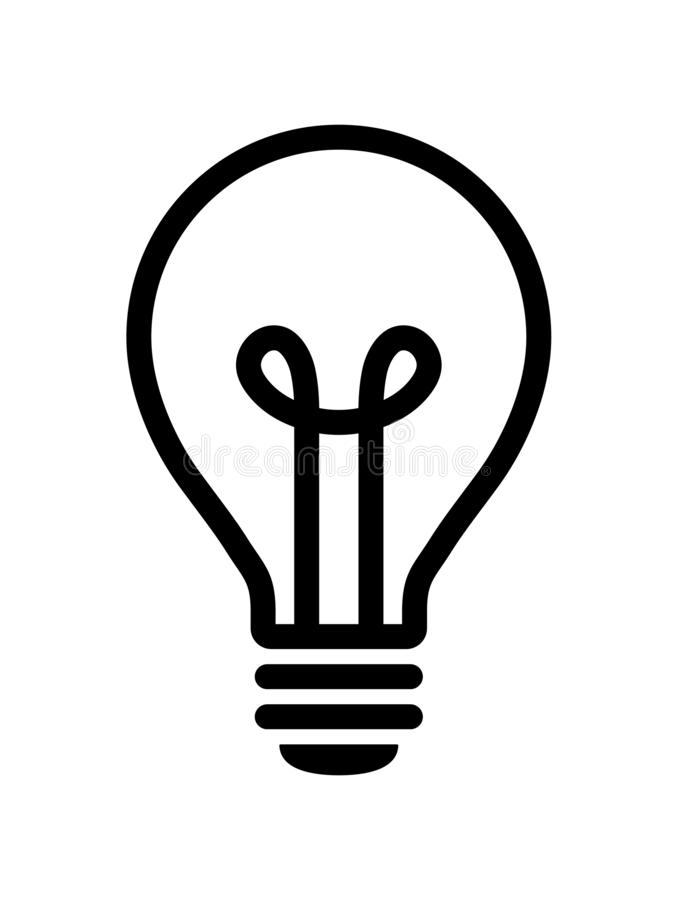 Значок электрической лампочки бесплатная иллюстрация