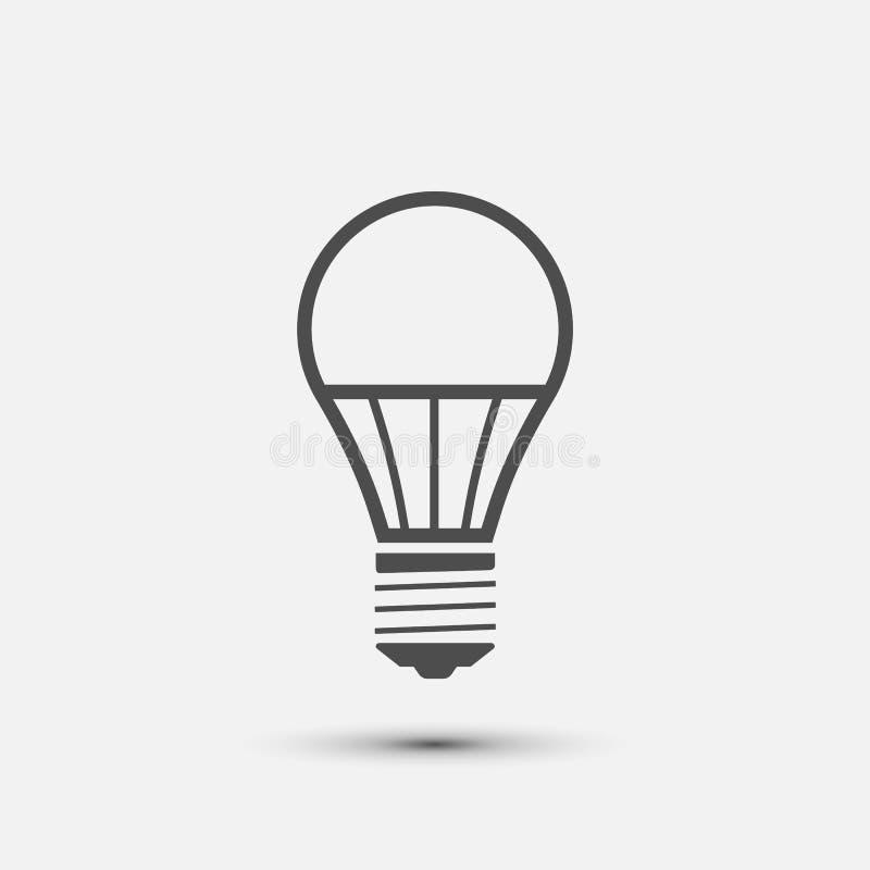 Значок электрической лампочки СИД также вектор иллюстрации притяжки corel бесплатная иллюстрация