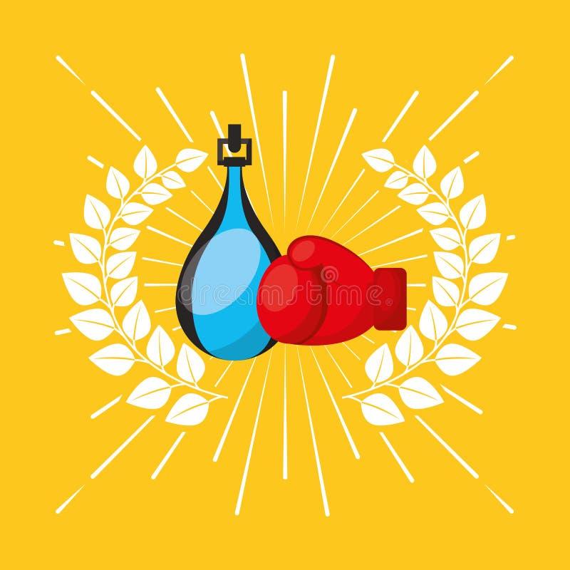 Значок эмблемы спорта бокса бесплатная иллюстрация