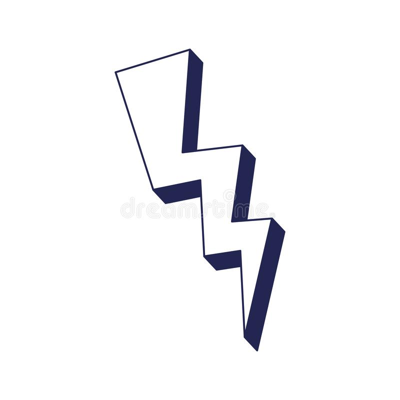 Значок энергии луча силы иллюстрация вектора