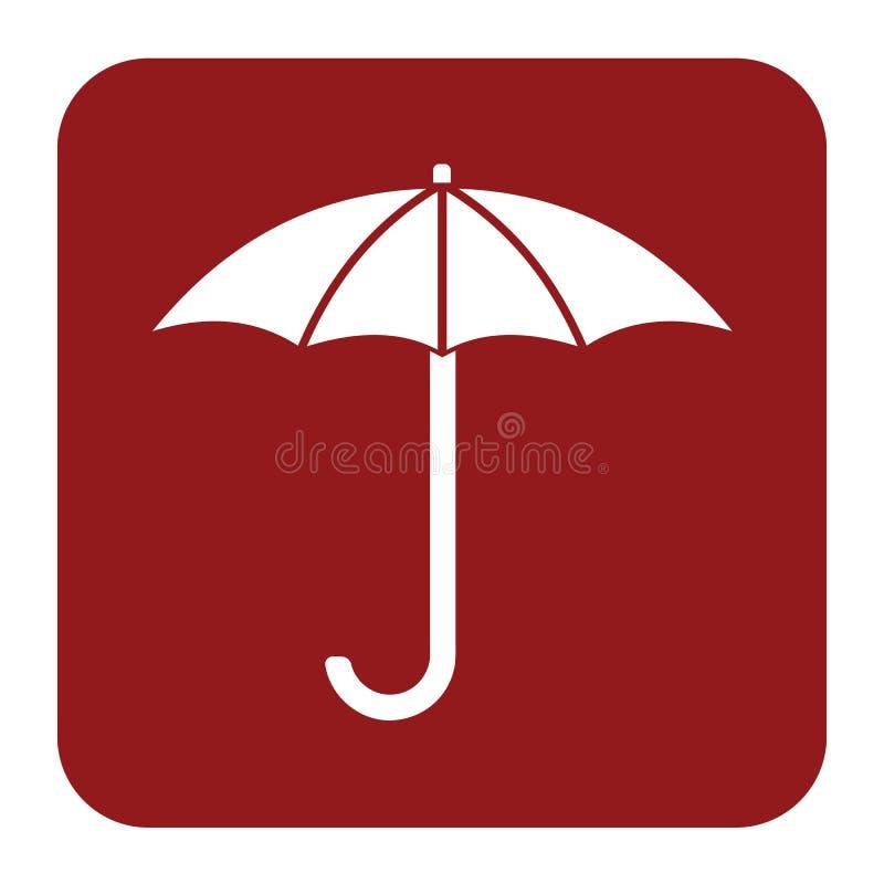 Значок эскиза зонтика бесплатная иллюстрация