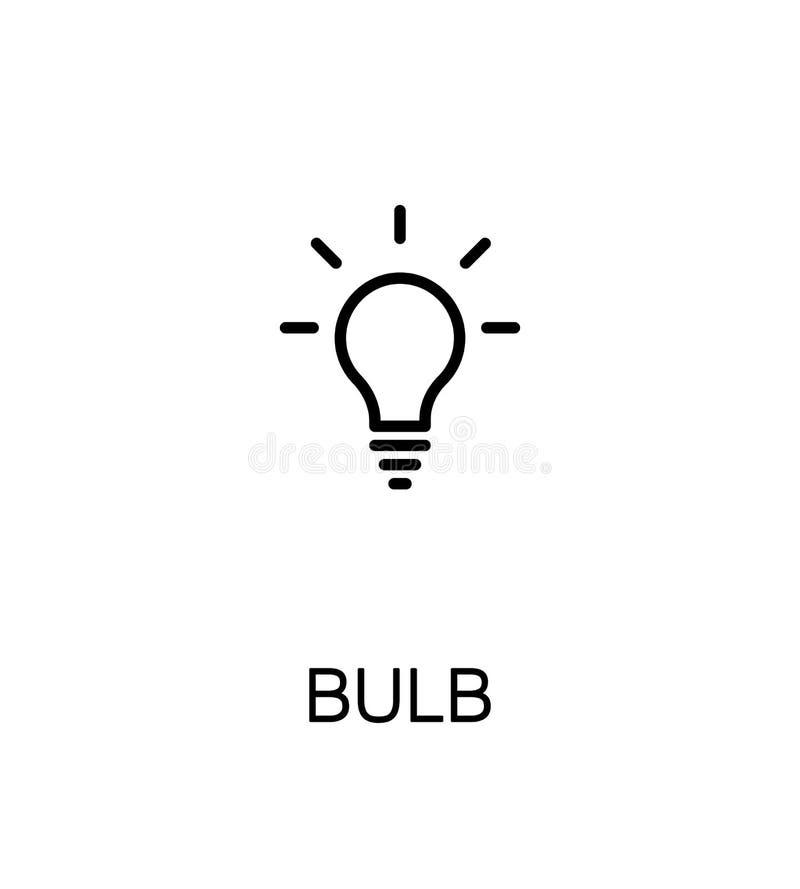 Значок электрической лампочки иллюстрация штока