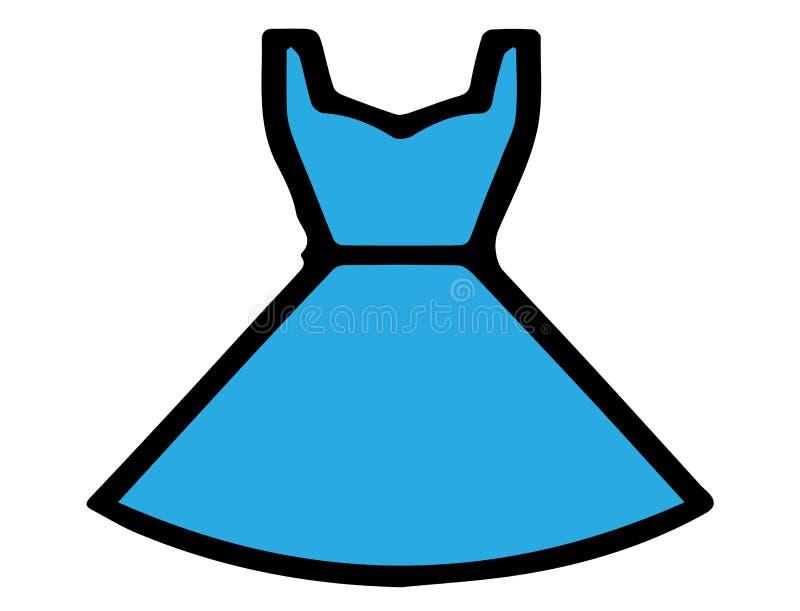 Значок юбки на белой предпосылке иллюстрация штока