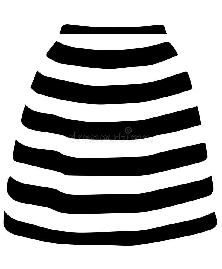 Значок юбки на белой предпосылке бесплатная иллюстрация