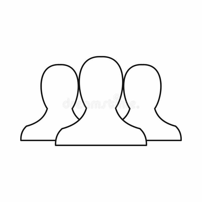 Значок людей в стиле плана иллюстрация вектора