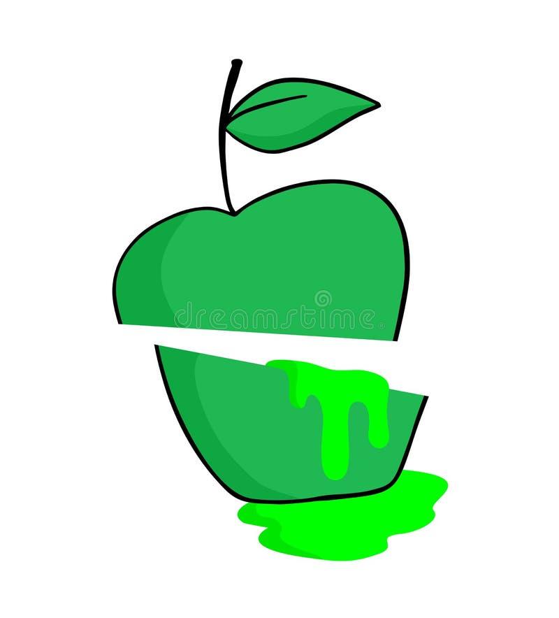 Значок яблочного сока иллюстрация вектора