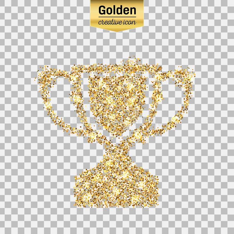 Значок яркого блеска золота иллюстрация штока