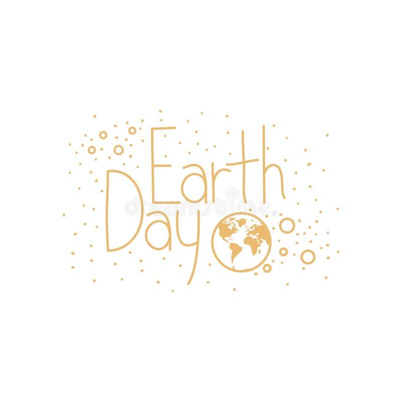 Значок ярлыка дня земли иллюстрация вектора