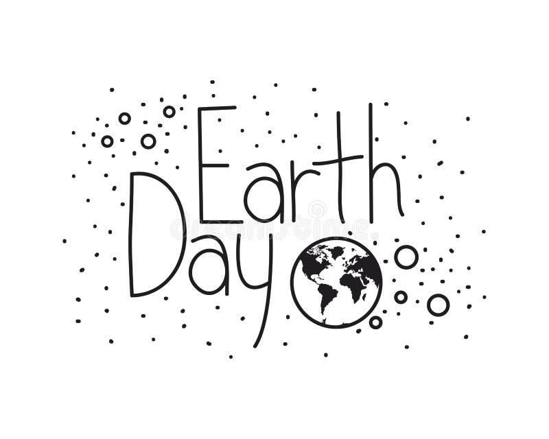 Значок ярлыка дня земли бесплатная иллюстрация