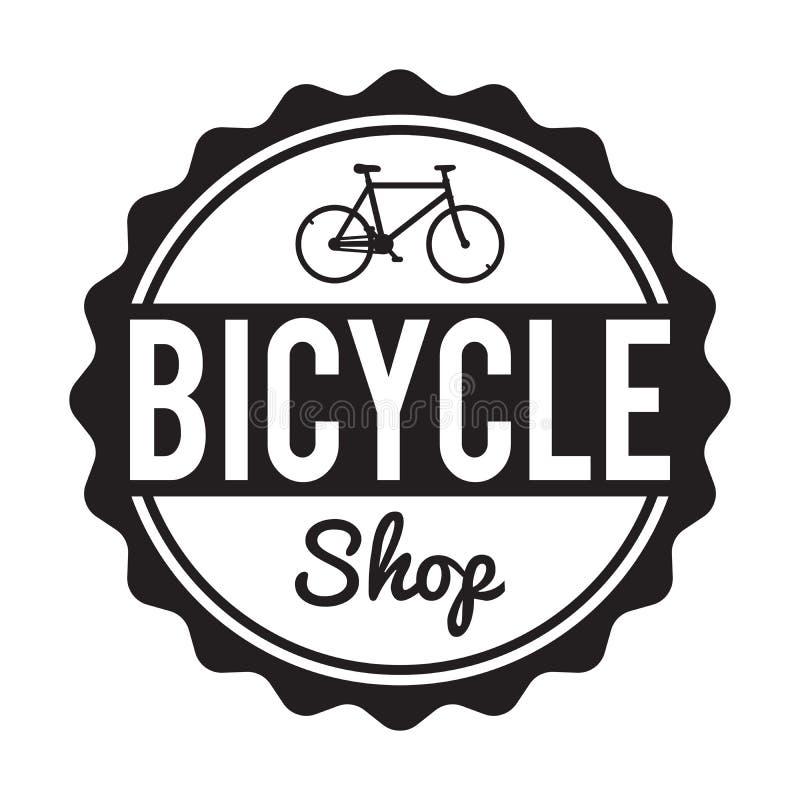 Значок/ярлык велосипеда Изготовленная на заказ рента магазина велосипеда битника бесплатная иллюстрация