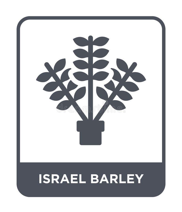 значок ячменя Израиля в ультрамодном стиле дизайна значок ячменя Израиля изолированный на белой предпосылке значок вектора ячменя бесплатная иллюстрация