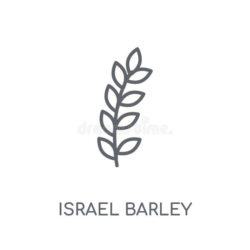 Значок ячменя Израиля линейный Современный жулик логотипа ячменя Израиля плана бесплатная иллюстрация