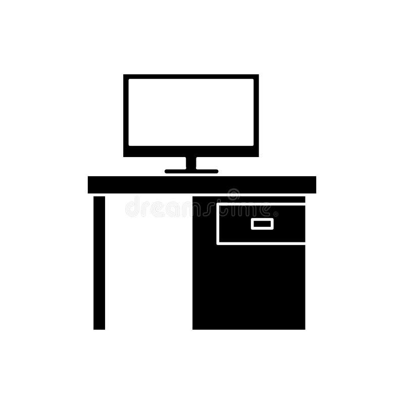 Значок ящиков офиса стола ПК силуэта черный бесплатная иллюстрация