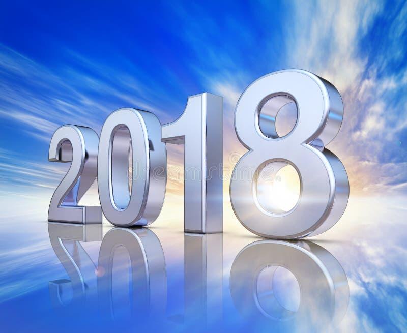 Значок 2018 иллюстрация штока