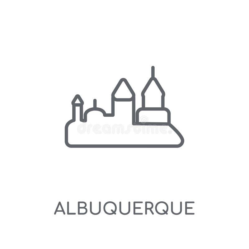 значок albuquerque линейный Современная концепция логотипа albuquerque плана бесплатная иллюстрация