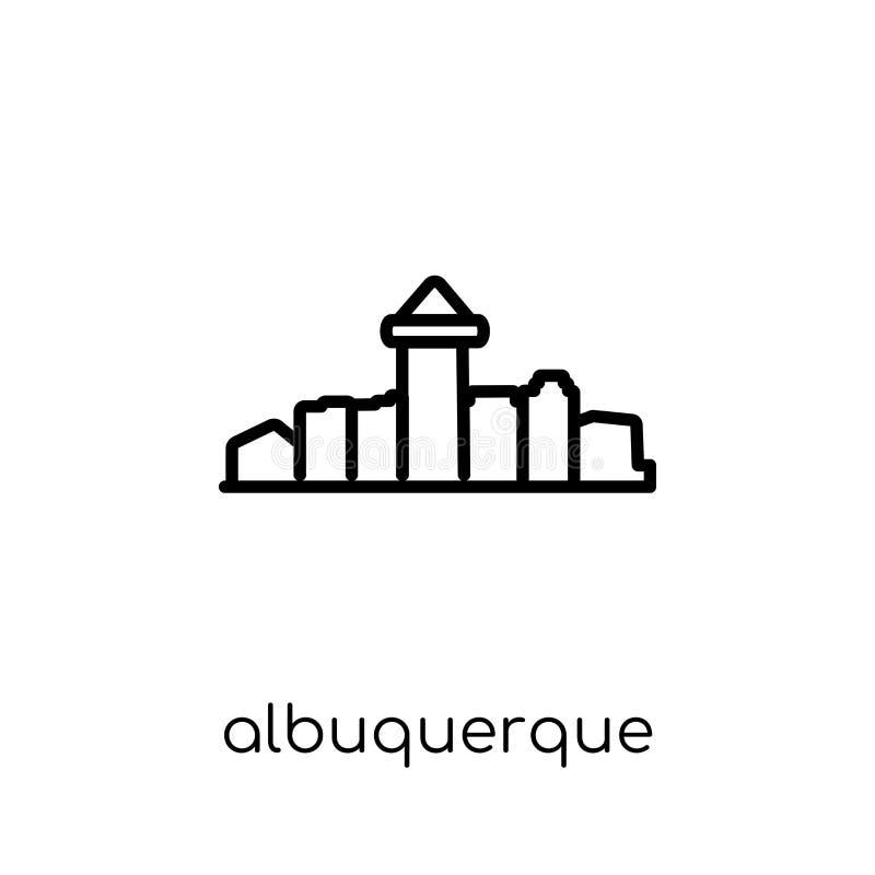 значок albuquerque Ультрамодный современный плоский линейный вектор albuquerque i иллюстрация штока