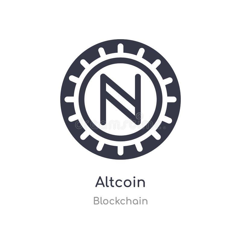 значок altcoin изолированная иллюстрация вектора значка altcoin от собрания blockchain editable спойте символ смогите быть пользо иллюстрация штока