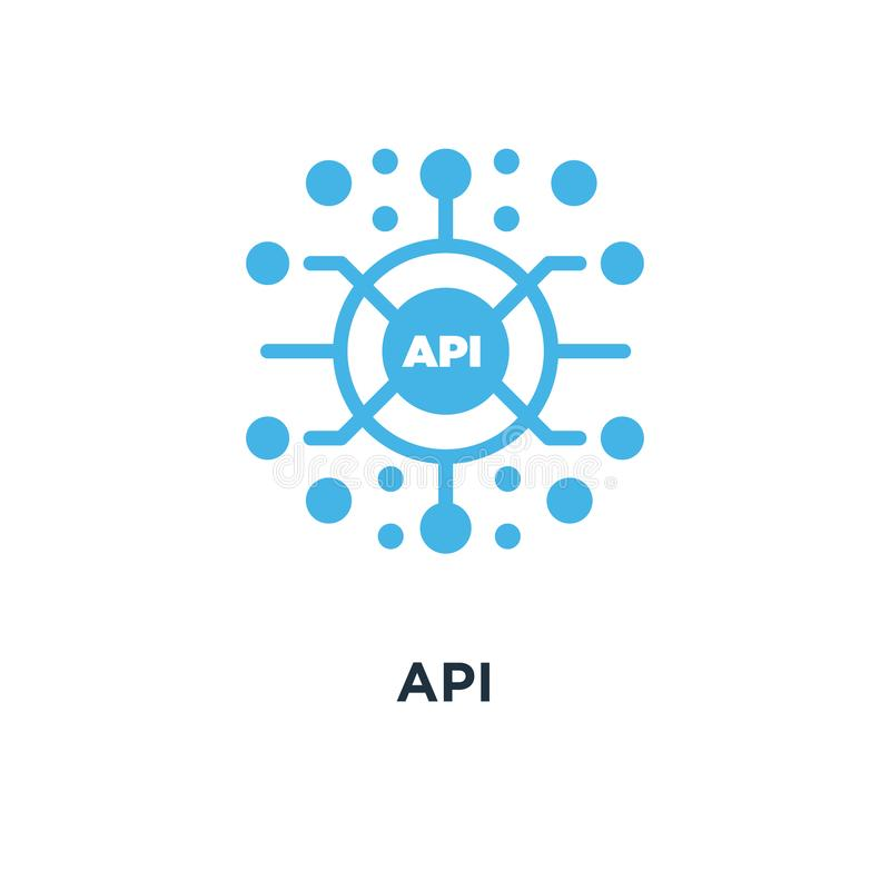 Значок Api desig символа концепции интерфейса программирования приложений бесплатная иллюстрация