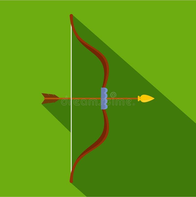 Значок Archery, плоский стиль бесплатная иллюстрация