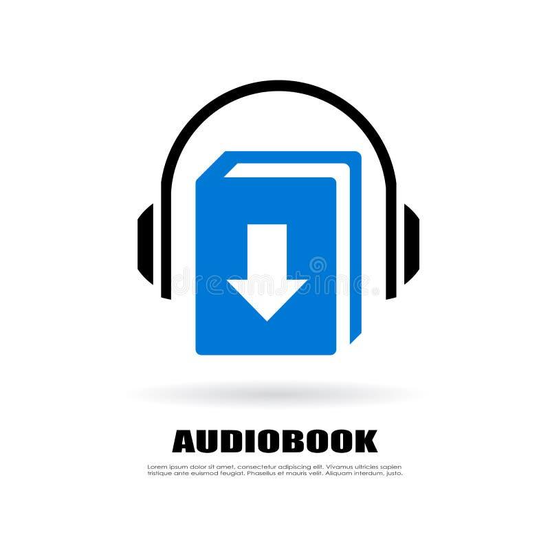 Значок audiobook загрузки бесплатная иллюстрация