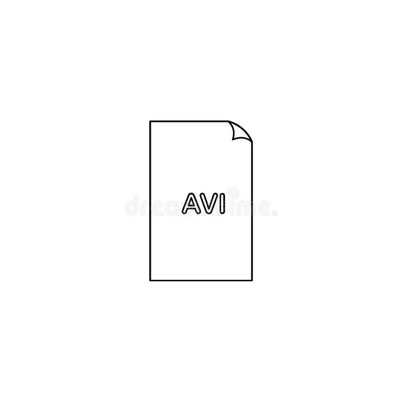 Значок AVI, значок типа файла формата avi тональнозвуковой видео-, элемент графического интерфейса пользователя для применений, в бесплатная иллюстрация