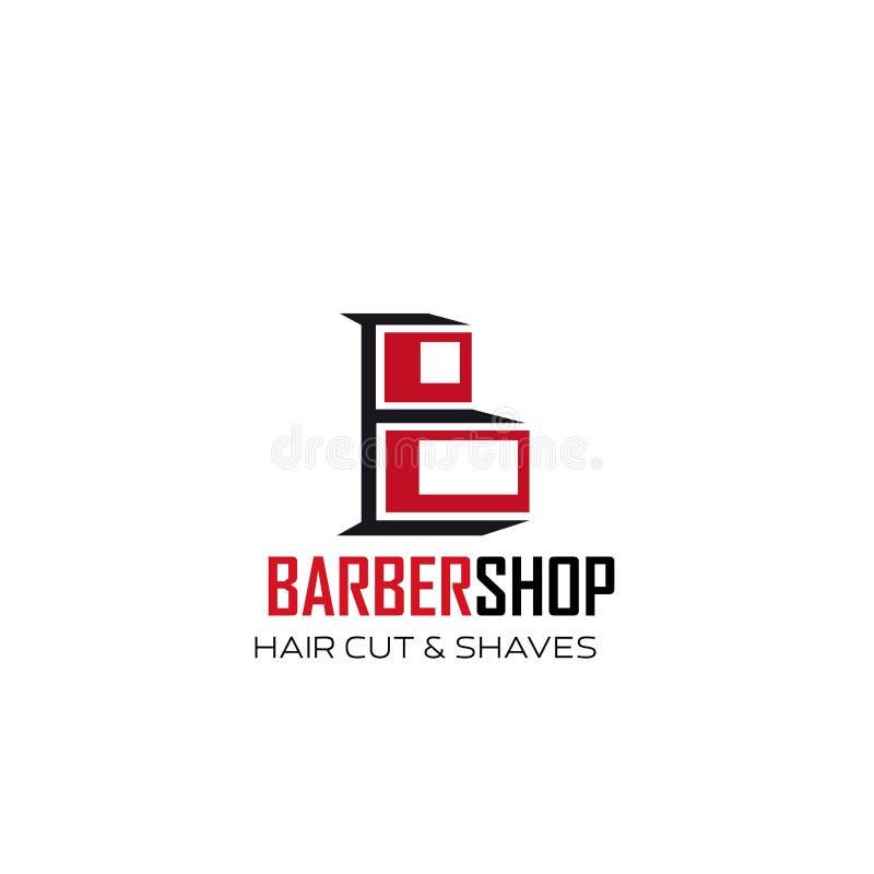 Значок b письма вектора волос и бритья парикмахерскаи бесплатная иллюстрация