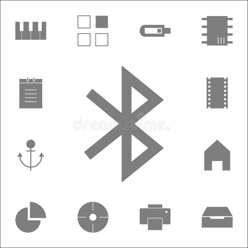 Значок Bluetooth Детальный комплект minimalistic значков Наградной качественный знак графического дизайна Один из значков собрани иллюстрация штока