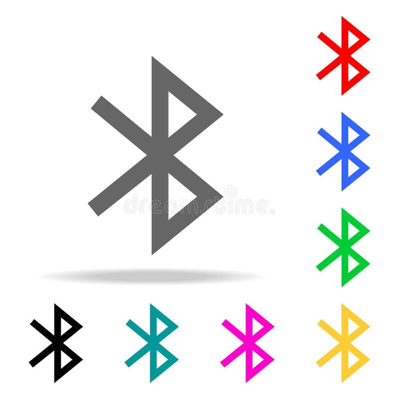 Значок Bluetooth Дизайн знака Элементы в multi покрашенных значках для передвижных apps концепции и сети Значки для дизайна вебса бесплатная иллюстрация