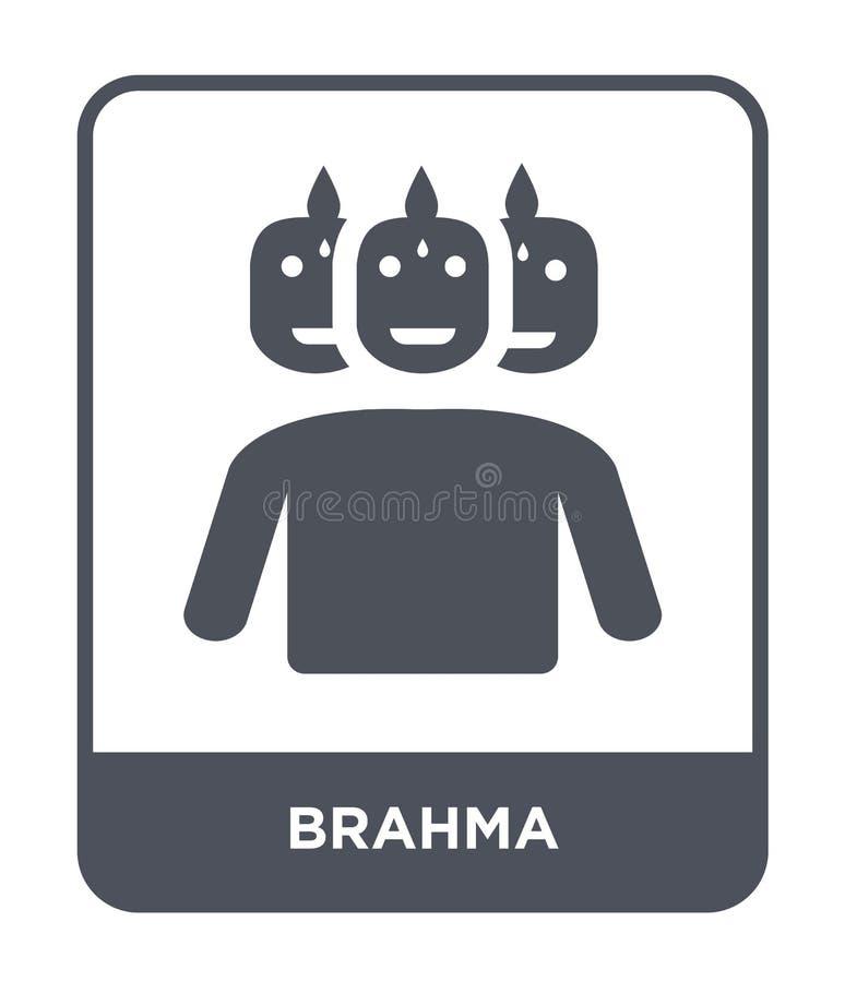 значок brahma в ультрамодном стиле дизайна значок brahma изолированный на белой предпосылке символ значка вектора brahma простой  иллюстрация вектора