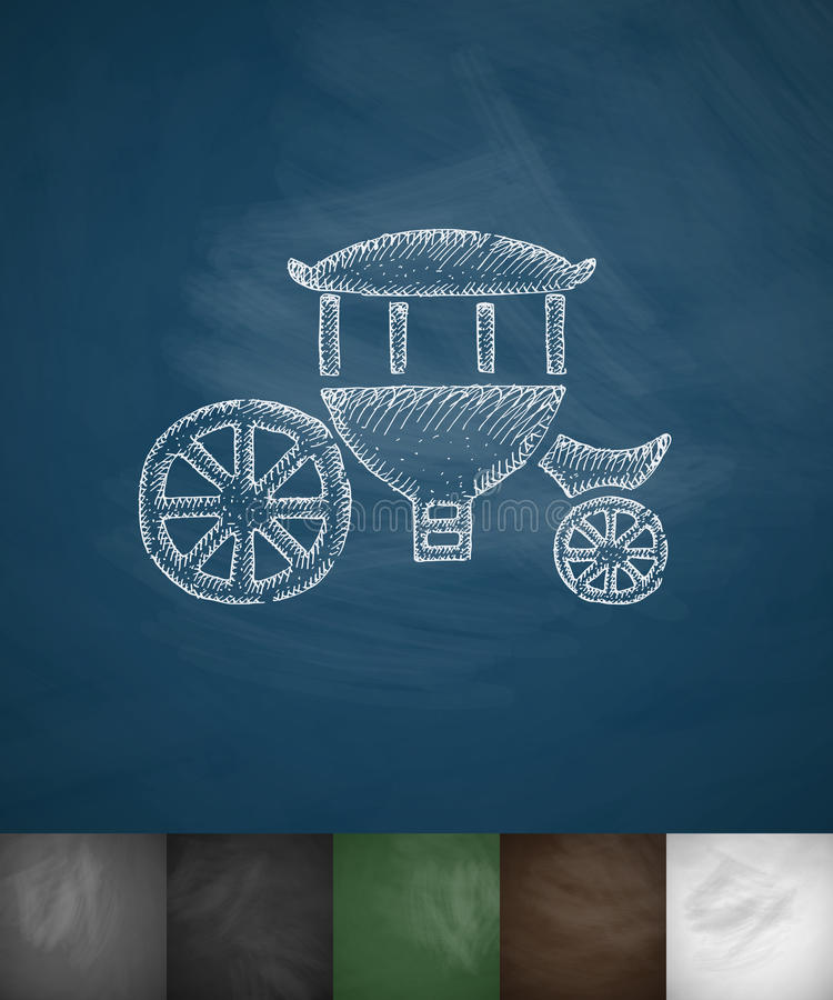 Значок Brougham Нарисованная рукой иллюстрация вектора бесплатная иллюстрация