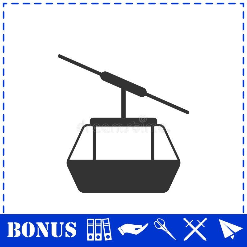 Значок cabines Ropeway плоско бесплатная иллюстрация