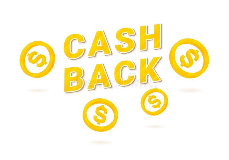 Значок Cashback с равновеликим центом иллюстрация вектора