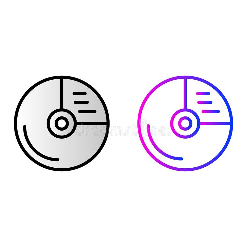Значок CD-привода иллюстрация штока