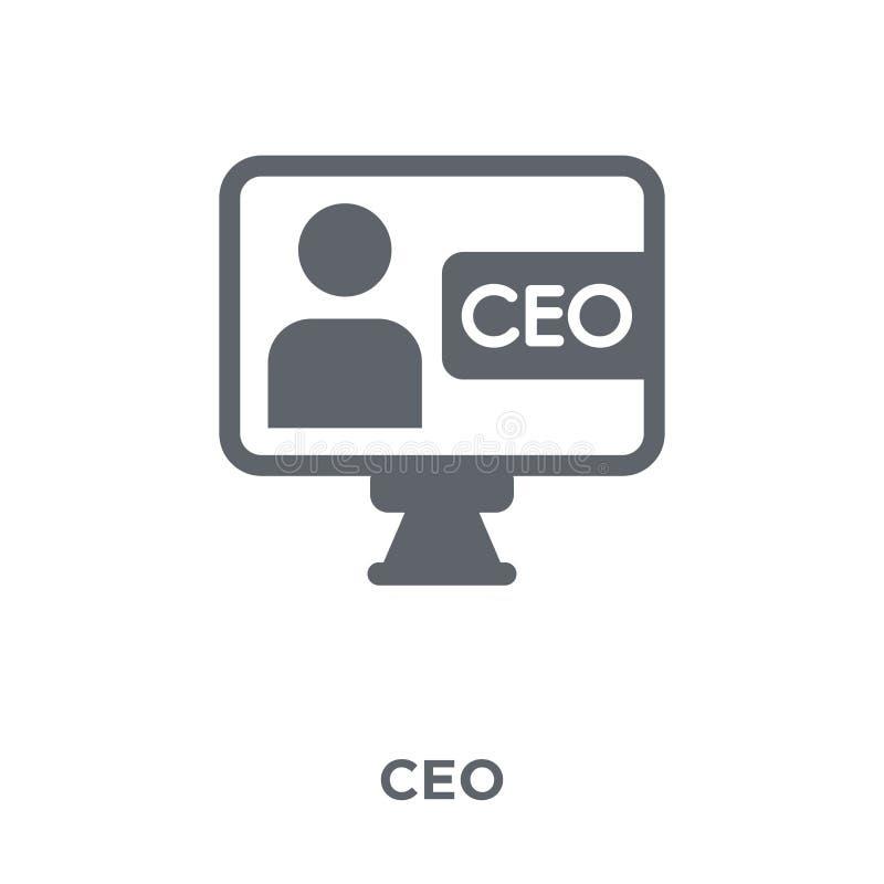 Значок CEO (главный исполнительный директор) от собрания запуска бесплатная иллюстрация