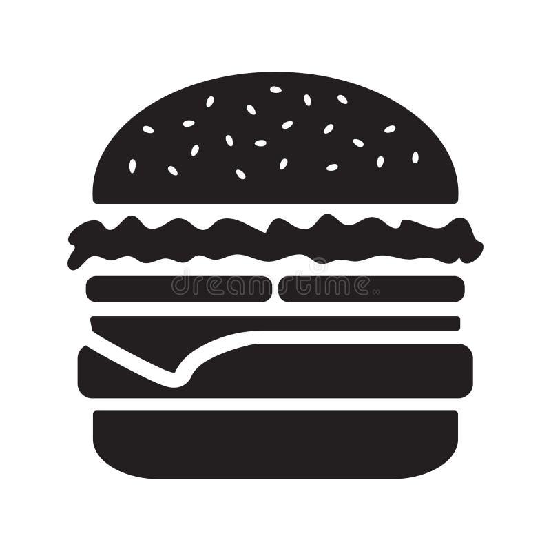 Значок Cheeseburger, черный силуэт r бесплатная иллюстрация