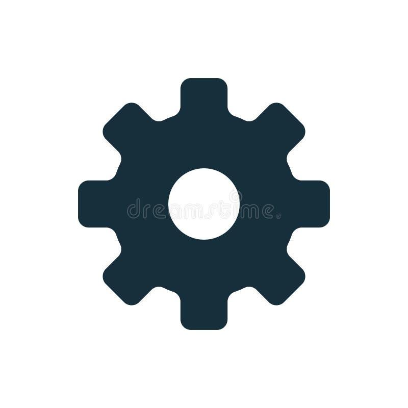 Значок cog установки стоковые изображения rf