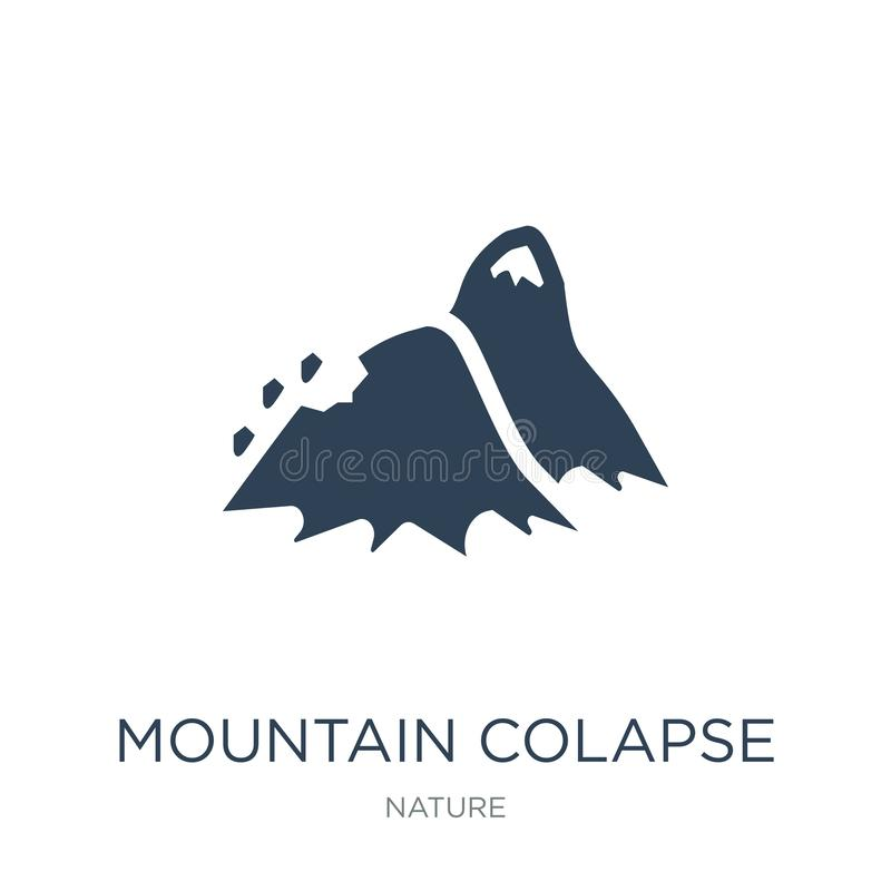 значок colapse горы в ультрамодном стиле дизайна значок colapse горы изолированный на белой предпосылке значок вектора colapse го иллюстрация вектора