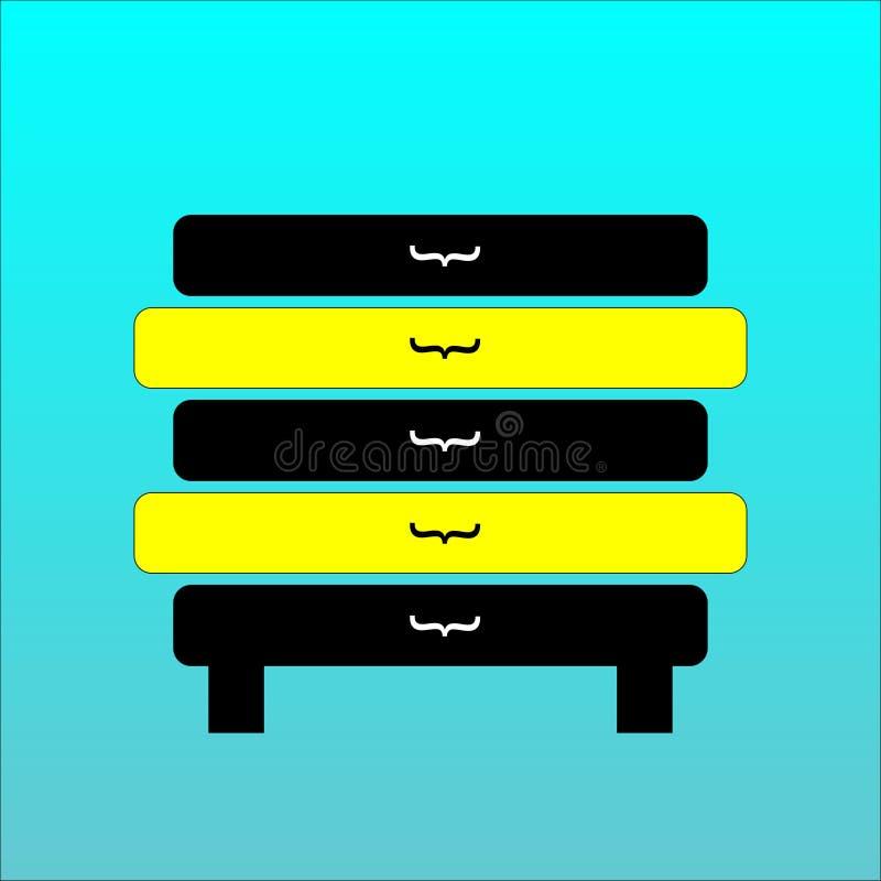 Значок Commode Иллюстрация шаржа на голубой предпосылке иллюстрация вектора